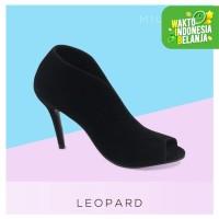 Miumosa Ankle Boot Wanita Suede - Hitam