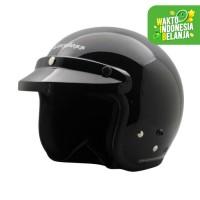 Helm Cargloss CF Retro Army Deep Black - Hitam, SIZE XL