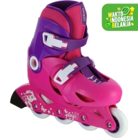 Oxelo Sepatu Roda Anak Pemula Play 3 Pink Decathlon - 8367591
