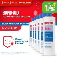 Band Aid Hand Sanitizer Solution [250 mL/ 6 pcs]