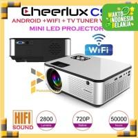 Mini Proyektor Cheerlux C9 Android WiFi TV Tuner LED Projektor
