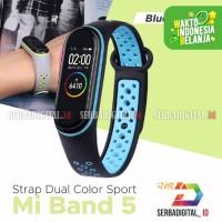 Band Strap Soft Rubber Dual Color Sport Strap for Xiaomi MI Band 5