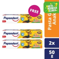 Pepsodent Kids Pasta Gigi Orange 50G isi 2 free 1 pcs