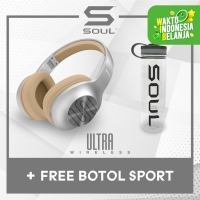 Soul Ultra Wireless Headphone Bass + Free LIMITED Soul Sport Bottle
