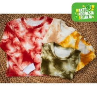 FortKlass LADIES CLEO Sweater Crop Basic Wanita Motif TIE DYE