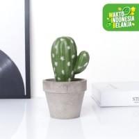 Aonez Tanaman pot kaktus palsu buatan didalam pot - 001