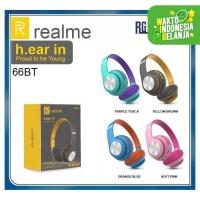 Headphone REALME E66BT Bluetooth Headset Macaron Wireless Extra Bass