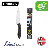 IDEAL E1003K Stainless Steel Utility Knife / Pisau Dapur [Gagang Kayu]