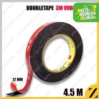 Double Tape 3M Merah Akrilik Acrylic Mobil Abu 12 mm x 4,5m Foam Type