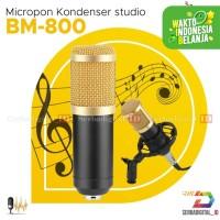 Microphone PODCAST BM-800 Kondenser Studio dengan Shock Proof Mount