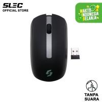 Mouse Wireless SLEC NC100 Silent Click ergonomic - Hitam