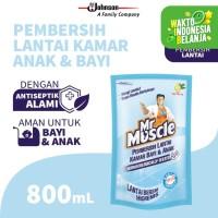 Mr. Muscle Pembersih Lantai Kamar Bayi & Anak Pouch 800mL