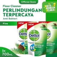 Dettol Floor Cleaner Pine 700ml x 3