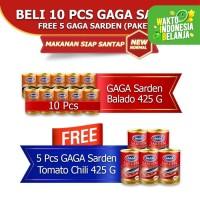 GAGA Sarden Balado 425g 10pcs GRATIS 5pcs Sarden Tomat 425 (kode 45)