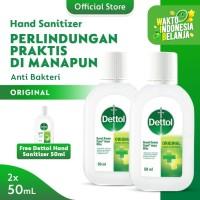 Dettol Hand Sanitizer 50ml Screw Cap [ BUY 2 GET 1 ]