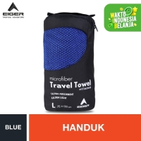 Eiger Travel Towel - Blue L