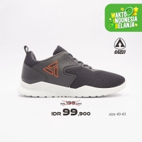 Aerostreet 40-43 Delta Abu Tua - Sepatu Sneakers Sport Pria Wanita