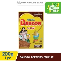 Nestlé DANCOW FortiGro Susu Bubuk Cokelat Usia Sekolah Box 200g