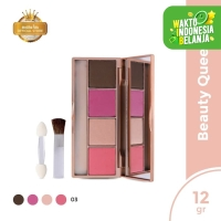 Mustika Ratu Eye Shadow & Blush SERI 03 On Berpigmen Vitamin E