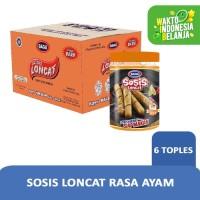 GAGA Sosis Loncat Rasa Ayam 1 Karton (Isi 6 Toples Harga Grosir)