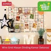 AONEZ Wire grid hiasan dinding kamar dekorasi