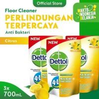 Dettol Floor Cleaner Citrus 700ml x 3