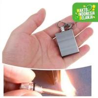 Gantung Kunci Korek Api Minyak Mancis Lighter Matches Mini Waterproof