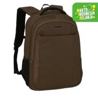 Real Polo Tas Ransel Laptop-Tas Punggung - Backpack Up to 15 inch HCCH - Cokelat