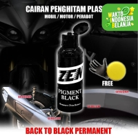 Black Pigment Penghitam Plastik Karet Body Motor Mobil Kendaraan 100ml