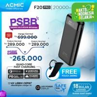 ACMIC F20PRO 20000mAh PowerBank (Digital Display + QC3.0 + PD )