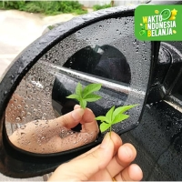 Stiker Film Air Anti Embun Hujan Kabut Spion Mobil Bulat Fog 95mm 2pcs