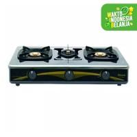 kompor gas RINNAI 3 tungku stainless steel - RI 603