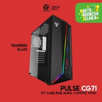 Fantech PULSE CG71 Tempered Glass Casing Komputer PC Gaming Case RGB