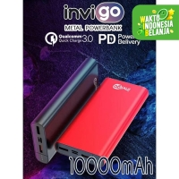 PowerBank Power Bank Invigo Metal 10000mAH quick Fast charging 3.0 18W