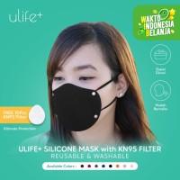 Ulife+ Masker KN95 Silikon Reusable Washable Dewasa & Anak Anti Virus