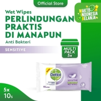 Dettol Wipes Sensitive 10s - 5 pcs