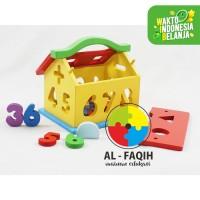 mainan edukasi anak- rumah angka geometri