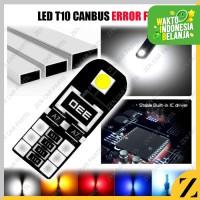 LAMPU LED T10 ERROR FREE W5W CANBUS BLACK 2 SISI SUPER BRIGHT CHIP SMD