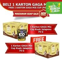 Mie Cup GAGA100 Extra Pedas Kuah Jalapeno Beli 1 dus FREE 1 dus (GG64)