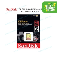 SanDisk SDHC EXTREME 64GB 90MB/s Class 10 Memory Kamera SD Card 64 GB