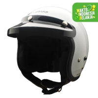 Cargloss CF Retro Army Helm Half Face - SP. Whity White