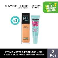 Maybelline Foundation Fit Me Pump Matte Pore+Baby Skin Pore - 128