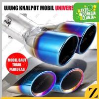 Tailpipe 2 Lobang Rainbow Pelangi Racing Ujung Kenalpot Universal