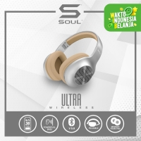 Soul Ultra Wireless Headphone Bass Over Ear Bluetooth High Definition - Abu-abu