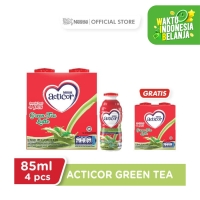 Acticor Green Tea 85ml [4pcs) Beli 1 Gratis 1