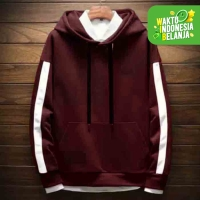 FortKlass MIX Sweater Hoodie Polos Pria Kupluk Hodie Unisex Fleece