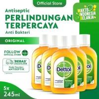 Dettol Antiseptic Liquid 245ml x 5pcs