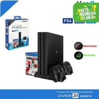 Multifunctional Cooling Stand PS4 Fat Slim Pro Monitor Charging LED