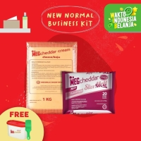 MEG Starter Pack - Cheddar Cream Keju 1Kg & Slice Melt 20 (New Normal)