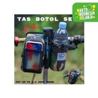 Tas sepeda Lipat Premium Army Botol air Handelbar holder tempat hp